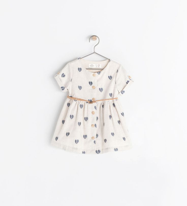 Toodler DRESS WITH EMBROIDERED HEARTS from Zara