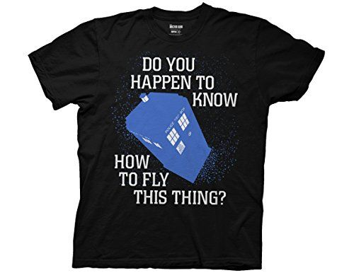 Ripple Junction Doctor Who Do You Happen To Know Adult T-Shirt Large Black @ niftywarehouse.com #NiftyWarehouse #DoctorWho #DrWho #Whovians #SciFi #ScienceFiction #BBC #Show #TV