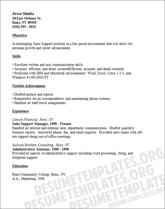 121 best Resume Templates by Resumeway images on Pinterest - sample resume for sales manager