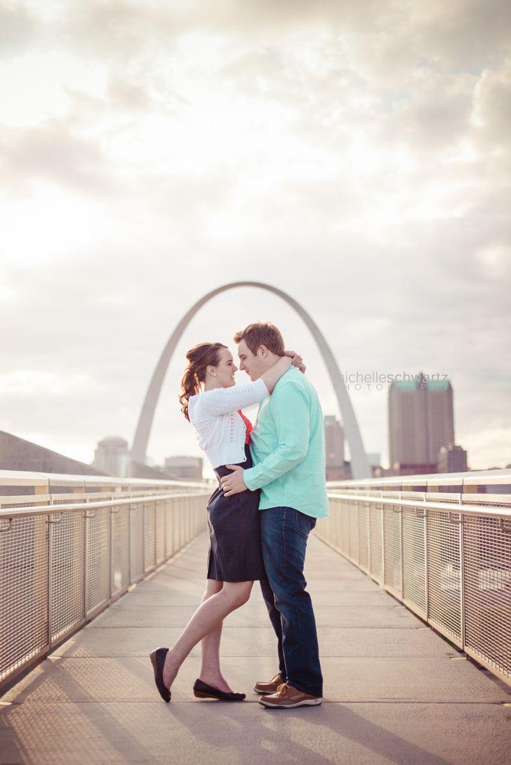 Engagement Shoot Ideas - St. Louis Photographer | Engagement | STL Arch | Michelle Schwartz Photography  http://michelleschwartz.zenfolio.com/