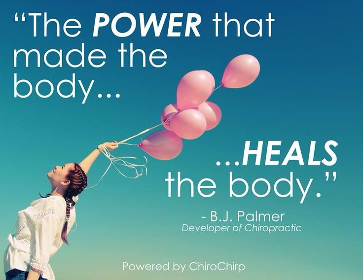 """""""The power that made the body heals the body!"""" BJ Palmer. Chiropractic helps the body function better. Rebecca Klein, DC Chattanooga, TN"""
