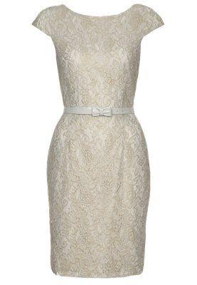 ESPRIT Collection Fodralklänning - Guld - Zalando.se