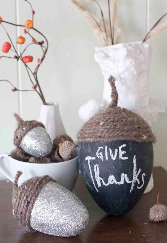 Easy and Easier: Acorn Centerpiece
