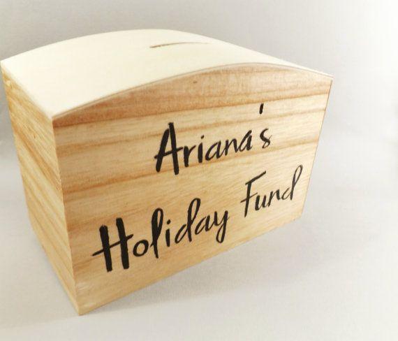 Personnalisés en bois boîte  boîte de fonds de par MakeMemento
