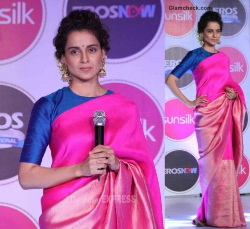 Looking for a similar hot pink silk saree as the one Kangana Ranaut is wearing