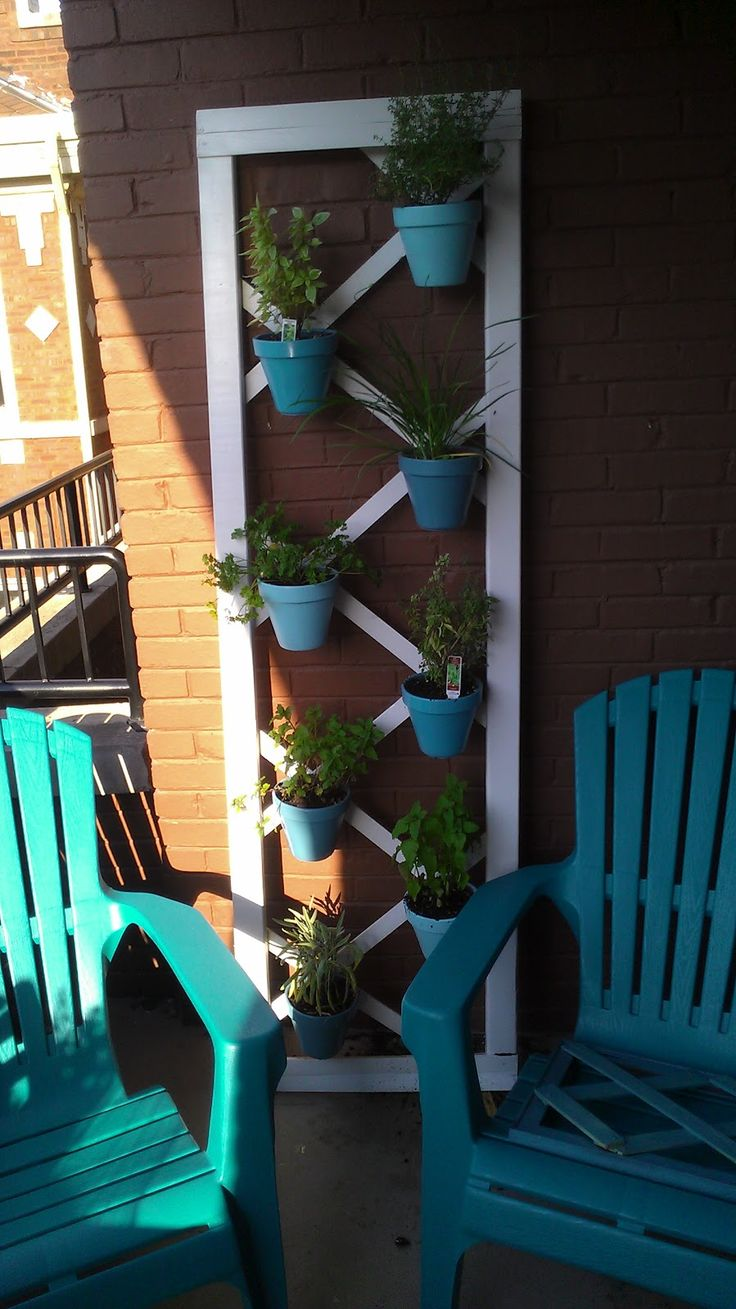 vertical herb garden. Perfect if you're short on space!