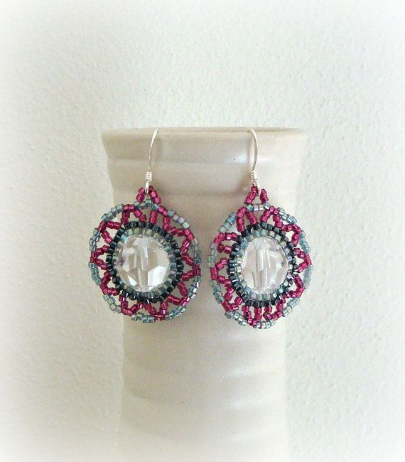 Retrò Beaded Earrings  Swarovski Crystal by LaPreciozaJewelry, $25.00