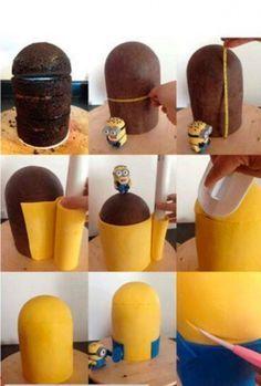 How to Minion Birthday cake