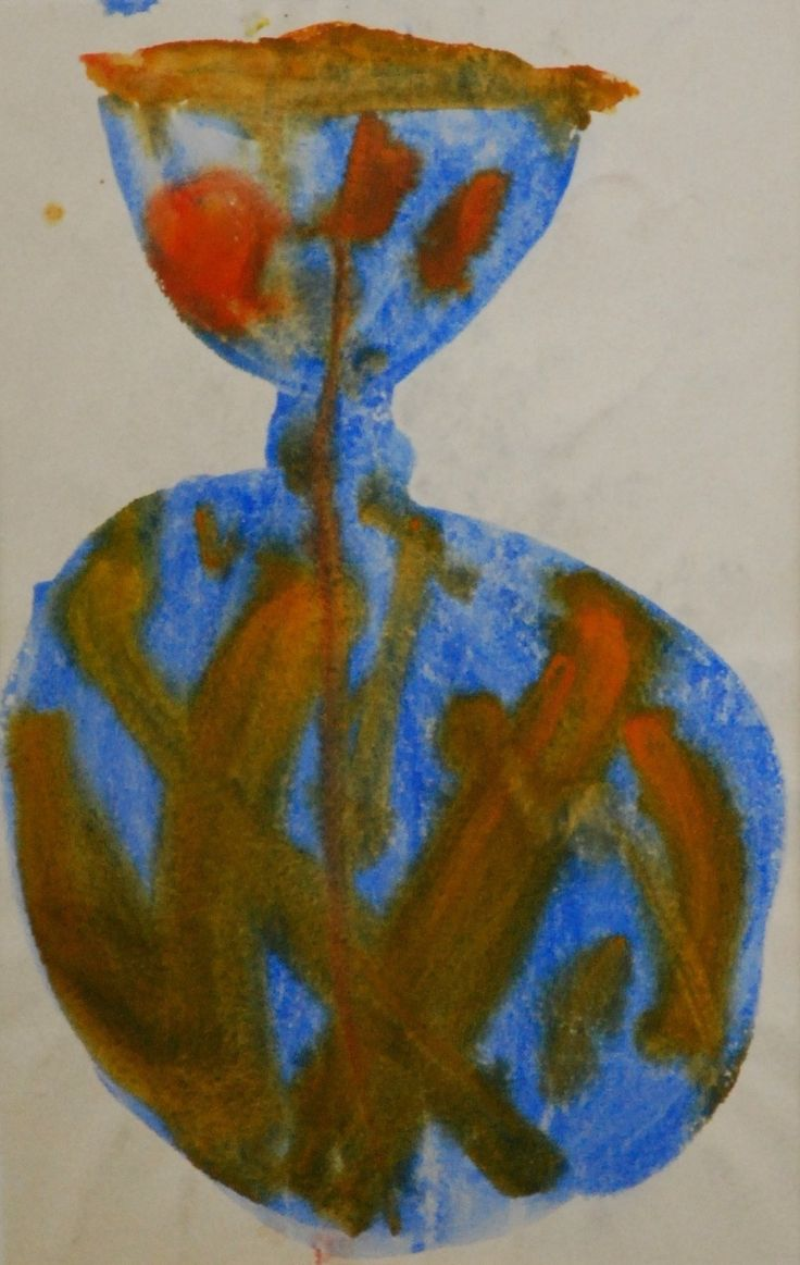 Lubomir Blecha, design for glass object, 1960, aquarelle on paper, M: 41,0 x 26,0 cm, UMPRUM Prague