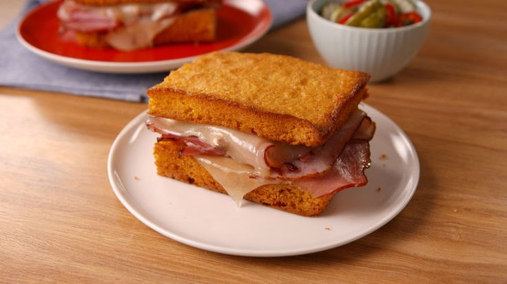 Toast Up This Honey Cornbread Sandwich with Country Ham and Swiss  - CountryLiving.com