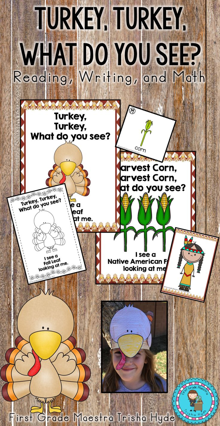 Are you looking for some fun, interactive Thanksgiving turkey activities to do with your students? This Turkey, Turkey unit is just that. Included is my book Turkey, Turkey, What do you see? Click the visit button above to see this great unit that includes Reading, Writing, and Math activities.