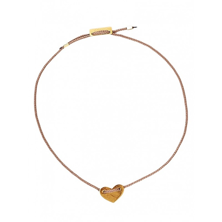 thin bracelet with a golden heart
