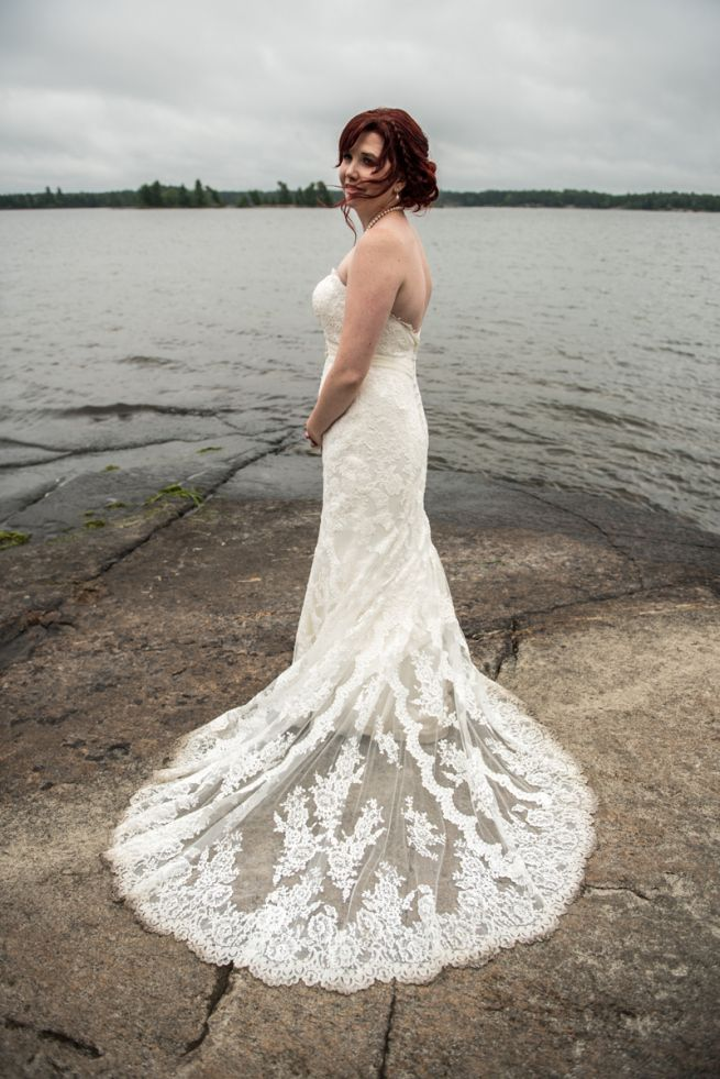 Finding the dress at With Love Bridal - Island Wed