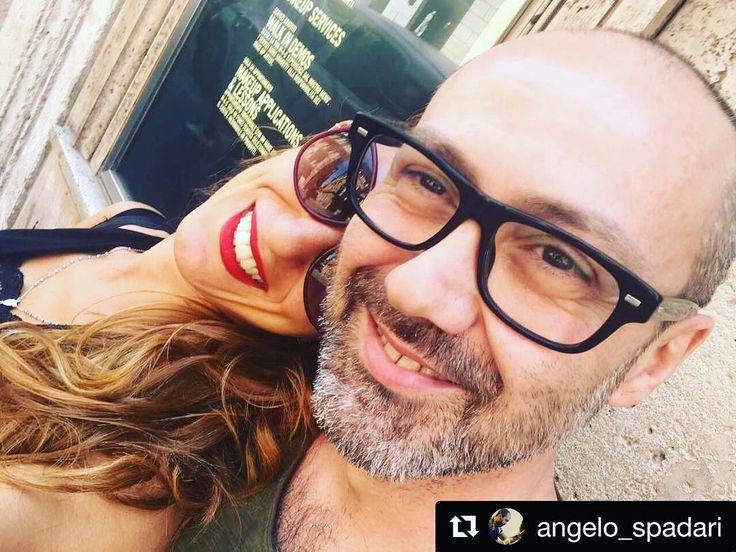 """Sarebbe il caso di dire che """"Chi è più bello di noi è truccato"""" ma vista la giornata........ @angelo_spadari ・・・ E durante la pausa pranzo del Mac Pro Full Day Lab non potevamo evitare un selfie!!! #angelospadari #rome #degradejoelle #tagliopuntearia #degrade #makeup #instamakeup #cosmetic #cosmetics #TagsForLikes #TFLers #fashion #lipsticks #mascara #concealer #foundation #powder #eyes #lashes #primers #beauty #beautifull #ootd #igers #musthaves #maccosmetics #lovemyjob #atwork…"""