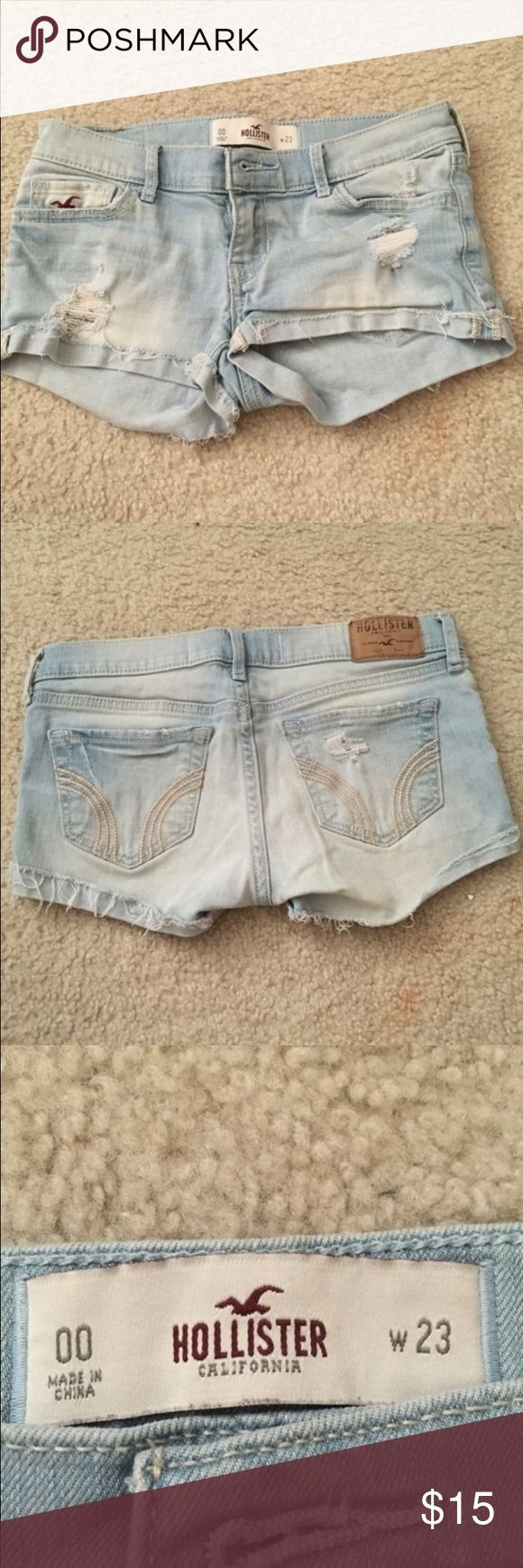 Hollister Jean Shorts Hollister Jean Shorts super cute! Perfect condition with no wear or tear Hollister Shorts