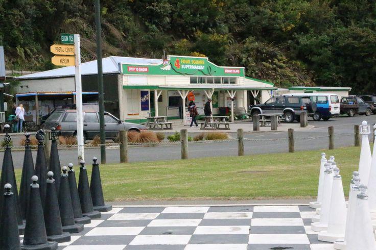 Supermarket on the main street Stewart Island, New Zealand.