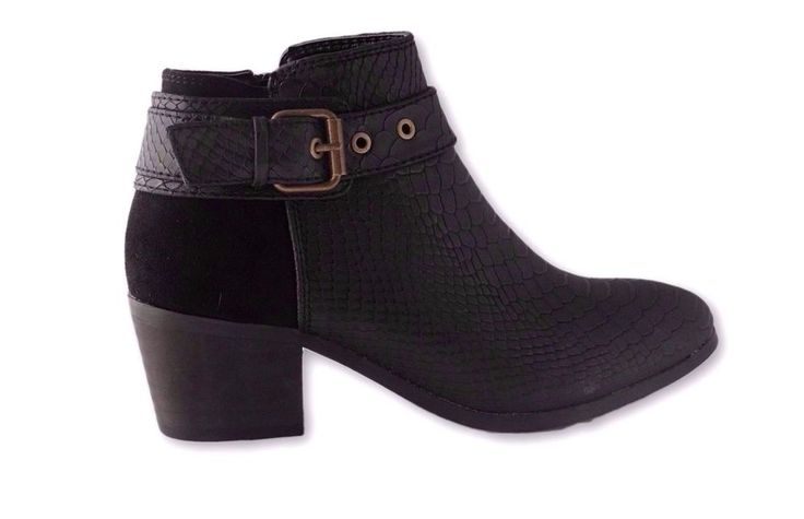 WOMENS LADIES  HEEL MID CUBAN HEEL ANKLE BOOTS BOOTIES SHOES SIZE