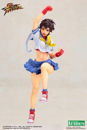 Street Fighter - Sakura Bishoujo Statue on Crunchyroll