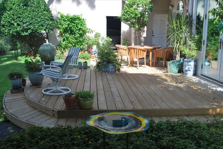 Simple Backyard Decks | Backyard, [Special Section of Backyard Design]: Simple Small Backyard ...