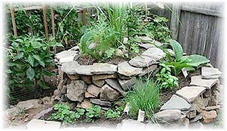 Raised rock herb garden Herb garden ideas Pinterest