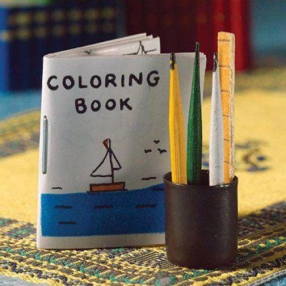 Dolls House Emporium Colouring Book & Pencil Set