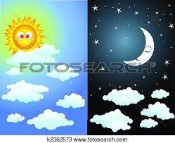 Resultado de imagen para dibujo del dia y noche