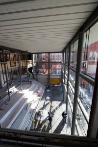 A sneak peek of the Goodes Hall Expansion.