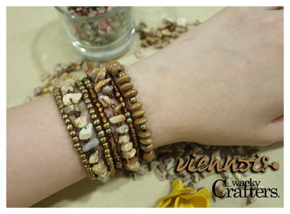 Viennois Natural Boho Bracelets Perfect Precious by WackyCrafters, $8.50