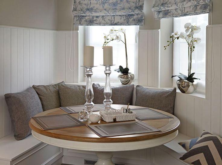 Mała jadalnia w kuchni – styl modern classic - Architektura, wnętrza, technologia, design - HomeSquare