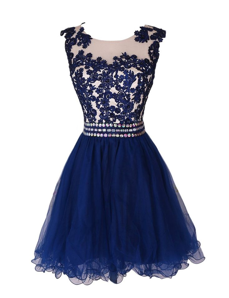 short lace homecoming dresses,navy homecoming dresses, beading homecoming…