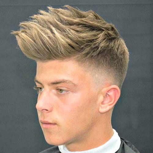 Dapper Haircut - Low Taper Fade with Spiky Hair