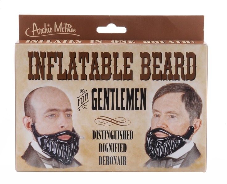 Inflatable beard. Who doesn't need this?