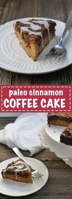 Paleo-friendly Cinnamon Coffee Cake by My Heart Beets.