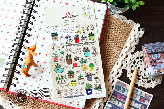 Sonia coreano Sticker-adesivo carino giardino pianta di homyhomy