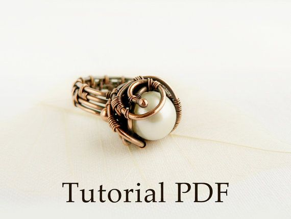 Jewelry Tutorial DIY project - wire wrapped ring - Pearl ring
