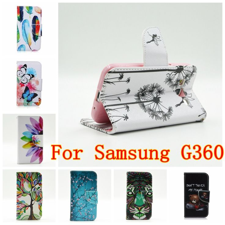 Wallet Case For Samsung Galaxy Core Prime Prevail G360 VE G361 G360H FLoral Butterfly Leather Flip Cases Cover Mobile Phone Case
