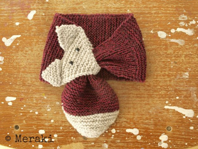 Fox Scarf! Too cute!!! - Note: The English instructions are at the bottom of the page.