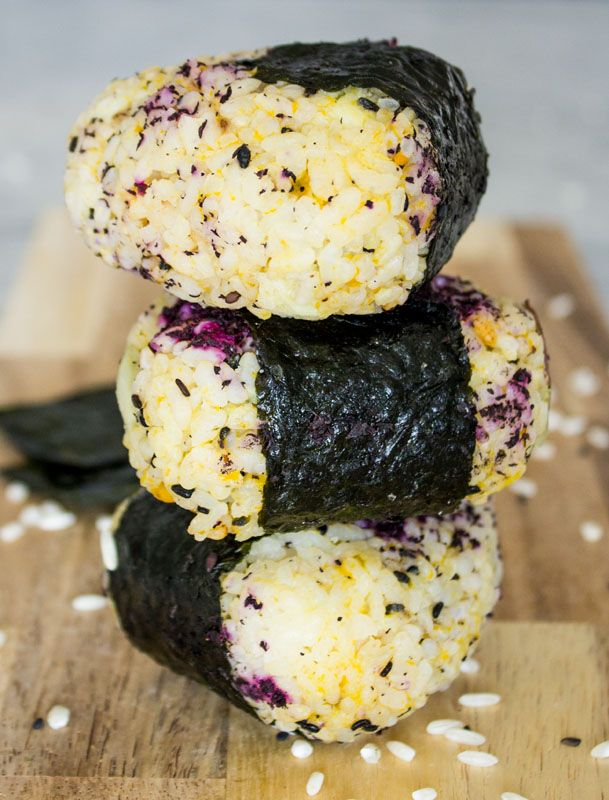 Japanese Onigiri (Rice Balls) with Kabocha Squash and Japanese Yam                                                                                                                                                                                 More