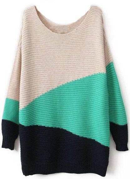 suéter geométrico-blanco&verde&zaul oscuro EUR€21.61                                                                                                                                                      Más