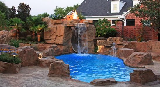 About us dealers swimming pool waterfalls by ricorock for Swimming pool dealers