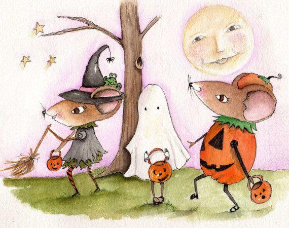 Cute Halloween The Halloween Parade by RoseHillDesignStudio