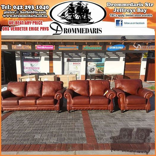Don't forget about our fantastic new lounge suites that are in stock at Drommedaris. Various styles and colors to choose from. We will bear any written quote on all our stock in the store. Have a fabulous Monday in #jeffreysbay #lifestyle #loungesuites.