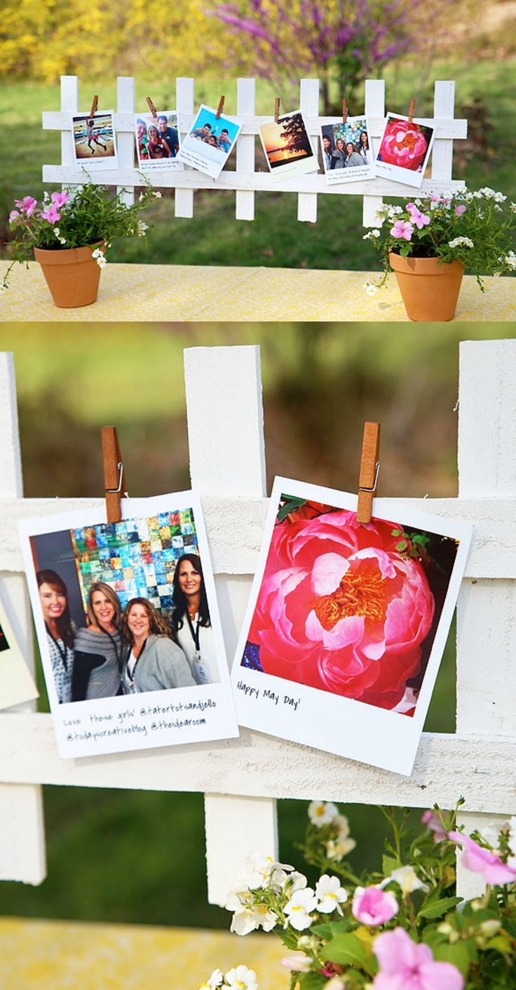 This photo centerpiece is the perfect decoration for your next party! The best part is that the photos come right from your social media accounts so you can easily customize and use photos of your guests! What are you waiting for? Collect your favorite photos online, print them out and create this centerpiece that your guests will love!