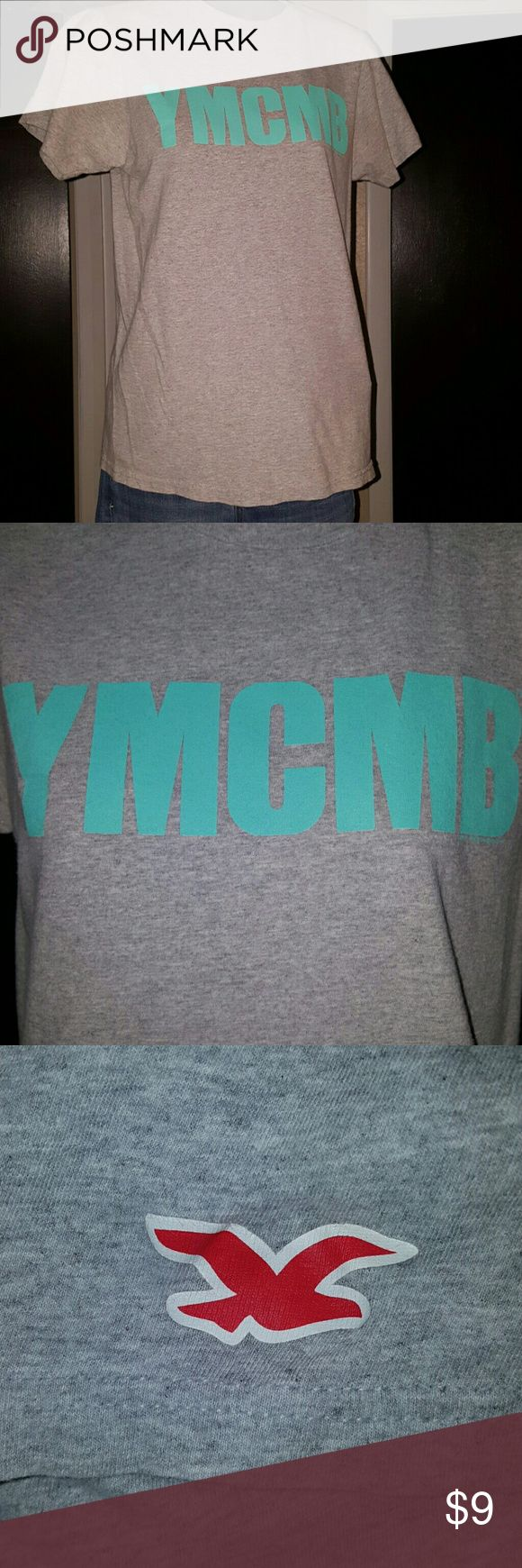 YMCMB Shirt Size - women's small Color - grey & turquoise  No stains No holes Like new condition! Make me an offer!! Tops Tees - Short Sleeve
