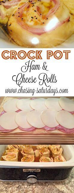 Crock Pot Ham and Cheese Rolls