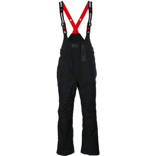 Dsquared2 logo print ski trousers ($1,295) ❤ liked on Polyvore featuring men's fashion, men's clothing, men's pants, men's casual pants, black, mens cuffed pants, mens zipper pants, mens zip off pants, mens ski pants and mens adjustable waist pants