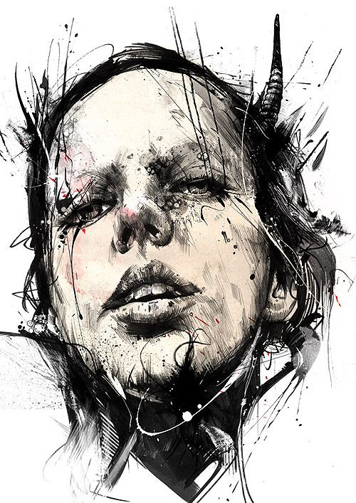 Drawings by Russ Mills   #Art #Drawing  