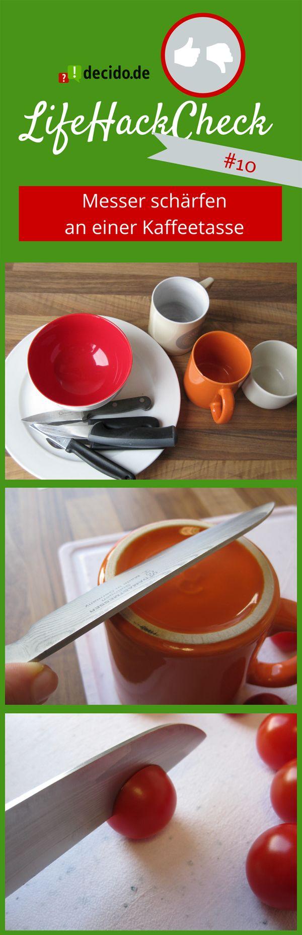 #LifeHack: Messer schärfen an Kaffeetasse #tricks #tipps #Messerschärfer