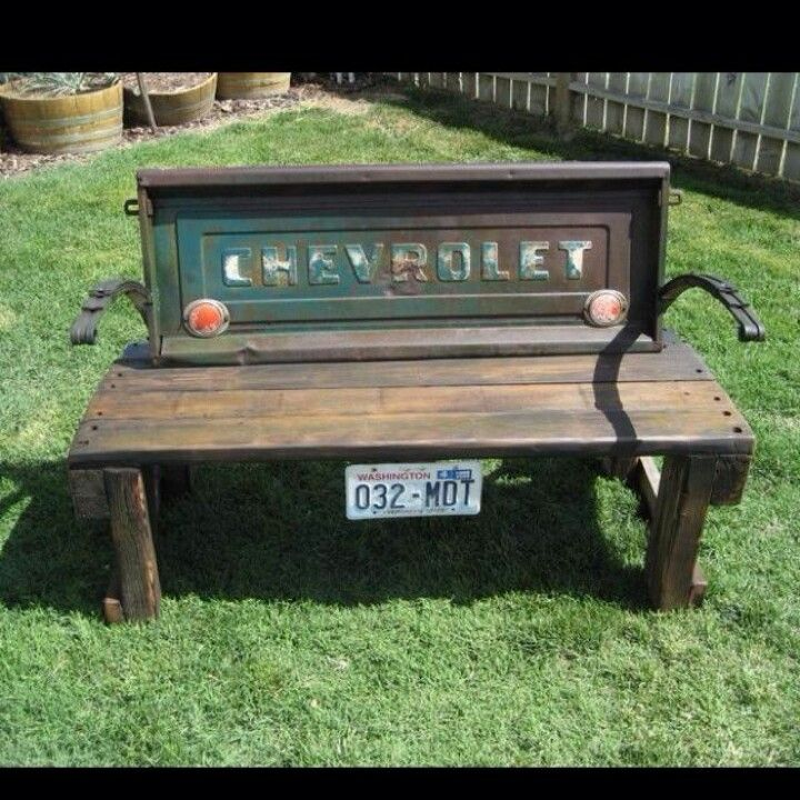 Tailgate bench Repurpose ideas Pinterest