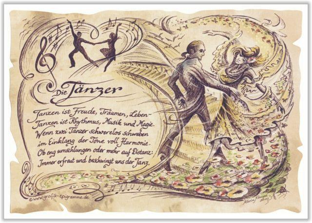 Gedicht Tanz Tänzer Tänzerin Tanzlehrer Tanzen Geschenk Präsent Jubiläum | eBay